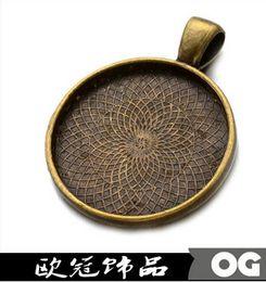 Wholesale Inch Round Pendant Setting mm Antique Bronze Pendant Blank Brass Bezel Pendant Tray Setting