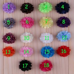 60pcs 2'' Multilayer Chiffon Mesh Flowers Artificial Flatback Fabric Tulle Mesh Flowers Children Hair Accessories Corsage Headbands Flower