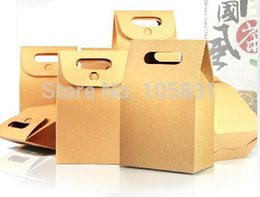 Wholesale 30X Brown kraft paper christmas food retail packaging box disposable cm cm can printed custom logo