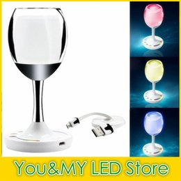 WIN LIGHT LED 2.4G Touch Control RGBW RGBWW 2W USB Rechargable Wine Cup Mi Light Wifi for Party holiday Table Bed