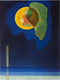 Wholesale Famous artwork Wassily Kandinsky oil Painting Reproduction CERCLE JAUNE Hand painted High quality