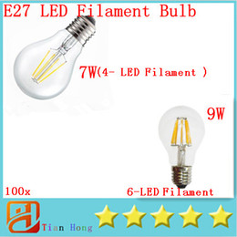 COB NEW Led filament led bulb E27 7W 9W COB Warm white cold white certification with good quality 100pcs