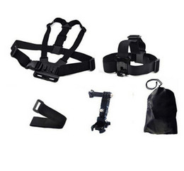 Wholesale HD DV sets of sports camera accessories chest belt Remote wrist strap Three to adjust the arm storage bag Action Cam Accessories