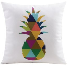 Fantastic Color Geometric Triangles Pineapple Bear Deer Elk Print Pillow Case Cushion Cover Decorative Sofa Velvet Pillows Cushions Covers