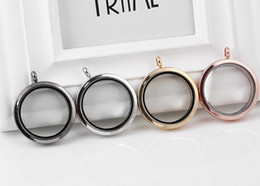 10PCS lot 4Colors 35MM Big Plain Round Magnetic Glass Living Floating Charms Locket Pendant For Chain Necklace