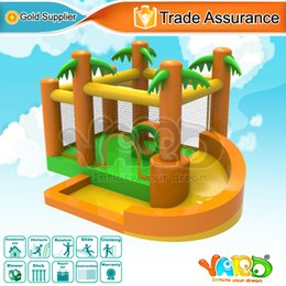 Wholesale YARD home use jungle nylon bounce house bouncy castle inflatable bouncer moonwalk jumper playground toyfor kids birthday party with blower