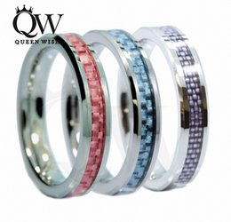 Women Rings Tungsten Carbide 4mm Tungsten Ring Wedding Band Carbon Fiber Inlay Wedding Ring Sets Statement Anniversary Band Women's Jewelry