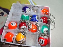 Wholesale DHL Pool Billiard snooker table ball keychain keyring