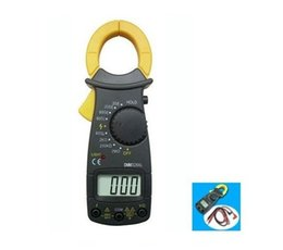 Wholesale Multimeter Digital Clamp Meter Electronic LCD AMP Tester Clip on Table Meter