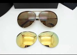 Wholesale-brand man woman new sunmer style Large frame color film sun glasses sunglasses P8478 free shipping