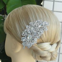 Wholesale Wedding Bridal Hair Accessories Flower Hair Comb Rhinestone Crystals FSE05093C1