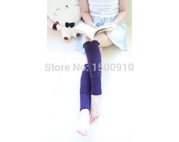 Wholesale-Fashion Purple Womens Leg Warmers Hand Knitted Knee Crochet Boot Cover Socks With Rippled Edge For Womens 2044