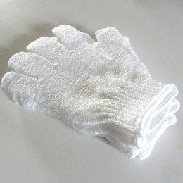 Wholesale Cloth Mitt Exfoliating Face or Body Bath Scrub Moisturizing gloves Apri whitel Glove retail