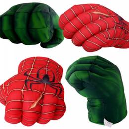 Boîte d'araignée jouet à vendre-Stuffed Peluches Avengers Spider Man Fist Gants Hulk Gants de boxe Puppets Toy