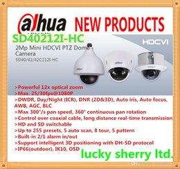 Ptz 12x en Línea-DAHUA IP66 (al aire libre), IK10, cámara 2MP OSD mini cámara domo PTZ HDCVI 1080P HDCVI 12X PTZ DAHUA SD40212I-HC