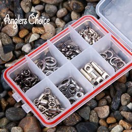 70PCS LOT Stainless Steel Fishing Snap Barrel Sling Rolling Swivels Fishing Tackle Accessories Fishing Hooks With Box