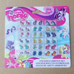 Wholesale Cartoon Earring Stickers My Little Pony Frozen kitty Barbie Princess Sofia Nail Art Sticker Nontoxic nail decals cm theme