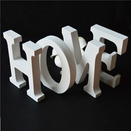 Wholesale Standing White Wooden Letters Europe Style Wedding Party Decoration Wall letters A Z Numbers