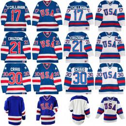 1980 Olympic Team USA Hockey Jerseys 17 Jack O Callahan 30 Jim Craig 21  Eruzione USA Miracle On Alternate Year Hockey Jersey c367f7962