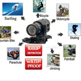 Wholesale Full HD p Helmet Head Camera Waterproof Sport Action Cam Car Mini camcorder DVR Video recorder Ambarella Chip