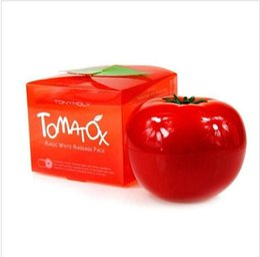 Wholesale 50 BBA4750 women HOT Tony Moly Organic Tomato Facial Mask Whitening Moisturizing Facial Mask g Tomato Skin Care Mask Anti aging Nourish