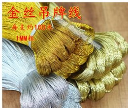 DIY jewelry accessories DIY jewelry processing line of gold thread, silver thread tag no core no elastic rope