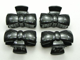 10 Black Plastic Hair Claw Grip Folding Clips Clamps 44mm for DIY Craft