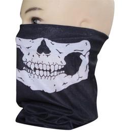 Wholesale-New Arrival Skull Design Multi Function Bandana Ski Sport Motorcycle Biker Scarf Face Mask Free Shipping