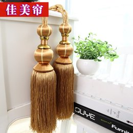 Wholesale Caramel curtain Home Museum Ming and Qing classical style vase ball curtains hanging ball bandage rope value lob tassels