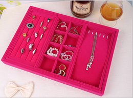 Wholesale free shipping New style Velvet Jewelry watch Display bracelet Box Storage ring Case Holder Organizer
