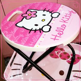 Wholesale 2014NEW Hello Kitty Folding Stool Do the Laundry Go to Picnic Feed the Baby Pink Home necessity Easy to Carry Put in the Trunk Sold by Piece