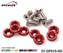 Wholesale Pivot D1 Spec M6 x Headlights Bumpers Fender Washers Kit Bolt Screw Engine Red Color Fit For HONDA D1 DP01S RD A3
