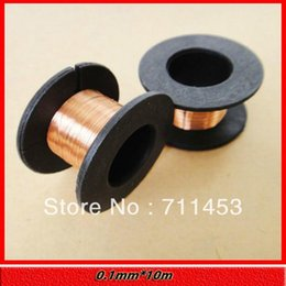 Wholesale-Enameled Wire 10m 0.1mm Fine Copper Wire Welding Line Copper Coil FREE SHIPPING 5pcs
