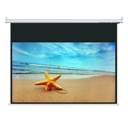Wholesale Cynthia Screen Factory Price High Quality Automatic Wall Mount Electric Projector Screen With RF IR Remote Control