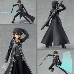 Wholesale High Quality Figma Sword Art Online SAO cm Kirito Action Figure Collection Toy Model Doll