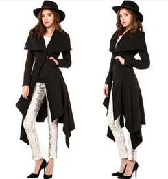 2015 Winter Fashion design coat dress fishtail hem collar double pockets with Button Waist wool women coat