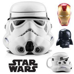 Wholesale Hot Sale Star Wars Cup Iron Man Coffee Mugs ECO Friendly ABS Funny Mugs Creative Gift Tea Cups Mug