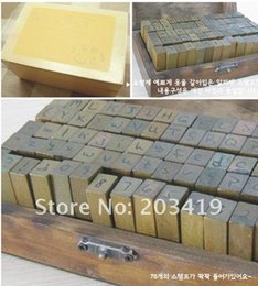 Wholesale Wooden vintage block letters Antique Alphabet numbers punctuation Stamps seal Handwriting carved gift toy PC set CN post