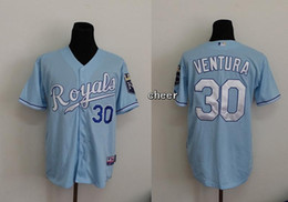 Wholesale 2015 Newest Men s Kansas City Royals Yordano Ventura Baby Blue Baseball Jerseys