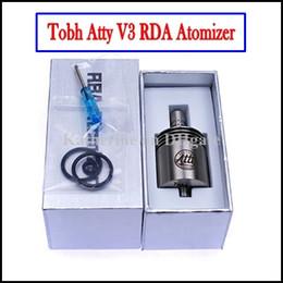 Mejor rba en Línea-E Cigarettes Aomizer Tobh Lcdo V3 Mejor RDA RBA Clearomizer Innovador 26650 Lic V3 28mm Clone para Hades Panzer Mod Negro Stingray Lcdo Tanque