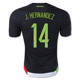 Wholesale Mexico J HERNANDEZ Black Home Soccer Jersey Mexico CHICHARITO Soccer Jersey Tops Customized Thai Quality Jerseys