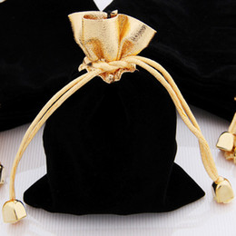 Drop Shipping Wholesale Hot 50Pcs 12*10Cm Black Velvet Jewelry Purse Gift Pouch Bags, Christmas New Year Brithday Wedding Gift Pouch Bag Hot