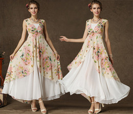 Summer Women Ladies Butterfly Printed Chiffon Dress Bohemain Long Dress Beach Party Dresses Maxi Dress Ball Gown