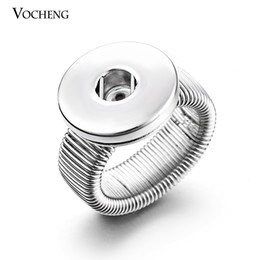 Wholesale VOCHENG NOOSA Snap Charms Ring Ginger Snap Jewelry Interchangeable mm Button NN
