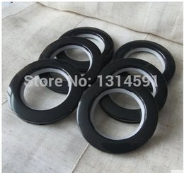 Wholesale 90 sets High quality Curtain accessories black large roman ring roman grommet for curtains hole digging circle