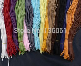 12 Colours 200PCS Flat Bar Faux Suede Leather Cords Jewelry Finding Making Design Necklace Accessories 2015 Fashion Jewelry Q168