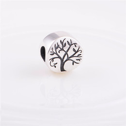 Wholesale Fits Pandora Authentic Sterling Silver Beads Tree of Life Charm Women DIY Jewelry Findings Fits Chamilia European Charm Bracelet