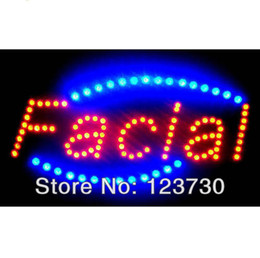 Wholesale Animated Motion LED Business Spa Facial SIGN OnOff Switch Bright Open Light Neon