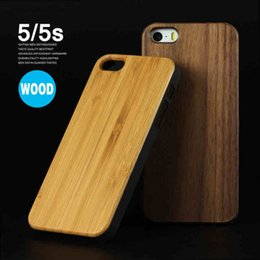 Wholesale True Wood Minimus Case for iPhone s Plus SE s Handmade Natural Genuine Walnut Bamboo Real Wooden slices Durable Plastic Back Cover DHL
