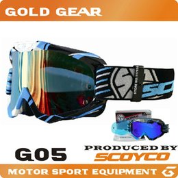Wholesale SCOYCO G05 Protective Glasses ATV Motorcycle Motocross Goggles Off Road Dirt Bike Racing Colorful Lens Airsoft Paintball Game